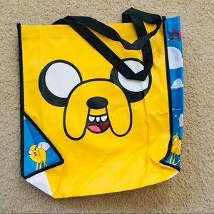 Adventure Time characters plastic tote bag